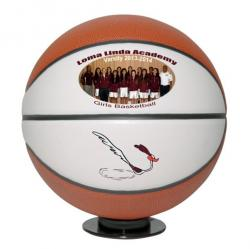 FULL SIZE TWO PANEL PHOTO BASKETBALL